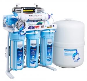 خرید تصفیه آب خانگی آکواپرو مدل 8 فیلتر استریلیزر و قلیایی ORP-UV8-B