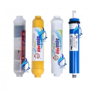 قیمت و خرید فیلتر دستگاه تصفیه آب آکواپرو مدل RO-4 مجموعه 4 عددی